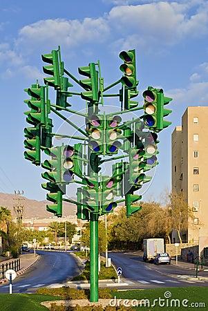 The last traffic signal in Eilat, Israel