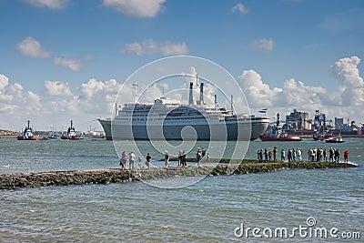 Last voyage of SS Rotterdam Editorial Image