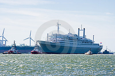 Last voyage of SS Rotterdam Editorial Photo