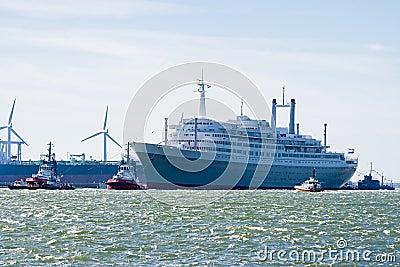 Last voyage of SS Rotterdam Editorial Photo