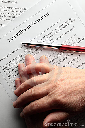 Free Last Will Stock Photography - 13040332