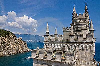 Lastochkino Gnezdo - landmark of Yalta Editorial Stock Image