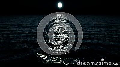 Latać nad oceanem przy nocą zbiory