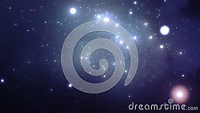 Latać przez galaxy Piękna Zapętlająca animacja HD 1080 zbiory