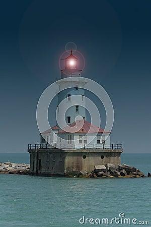 Latarnia morska & bezpiecznej przystani & chicago