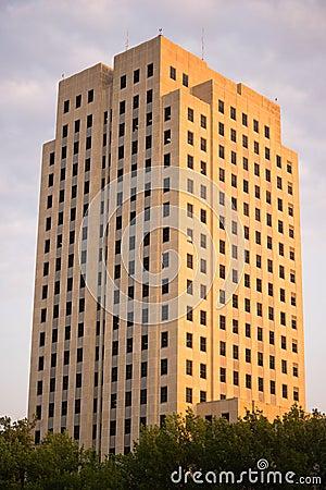 Free Late Afternoon Sunset North Dakota Capital Building Bismarck Stock Photography - 114460822