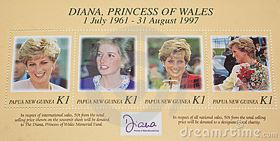 Late Diana,Princess of Wales commemorated. Editorial Stock Photo