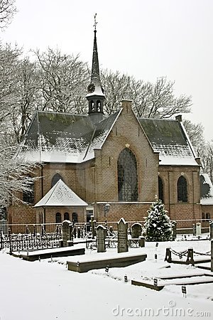 Late Medieval Church In Wintertime The Netherlands Stock Images - Image: 12303114