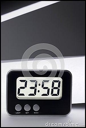 Late-night digital alarm clock