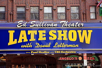 Late Show Editorial Image