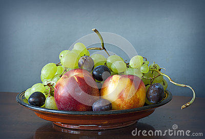 Late summer fruit assortment