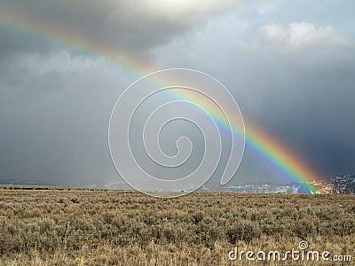 Late winter rainbow