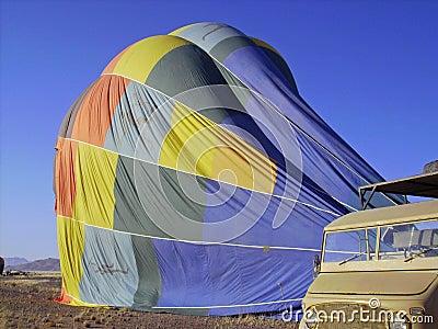Latende leeglopen ballon