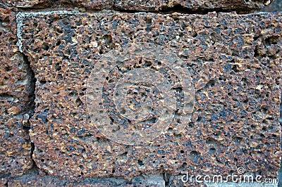 Laterite stone.