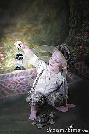 Free Latern Boy Royalty Free Stock Photography - 9246527
