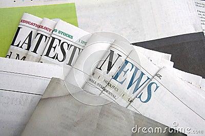 Latest news on newspapers