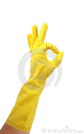 Free Latex Glove For Cleaning Stock Photo - 2087430