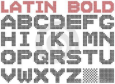 Latin alphabet. Bold.
