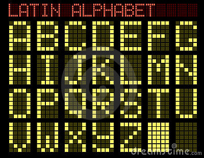 Latin alphabet. Indicator.