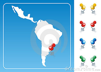Latin America map illustration