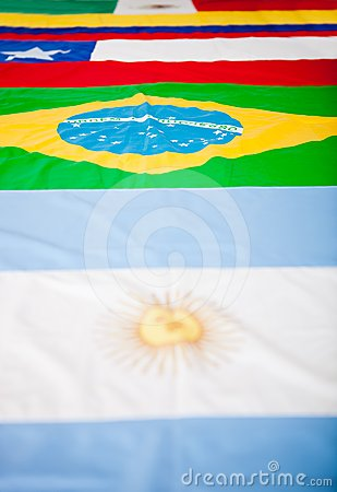 Latin American flags