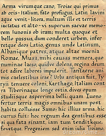 Latin Calligraphy (from Virgil s Aeneid)