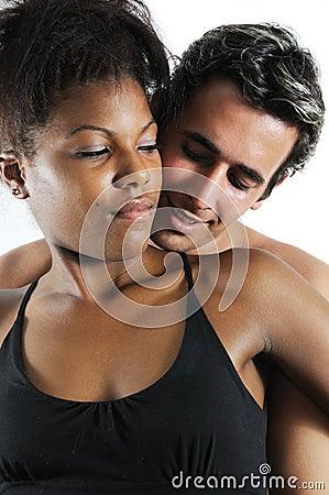 Latin couple embracing