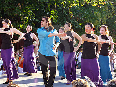 Latin Dance Performers at Mount Pleasant Editorial Photography