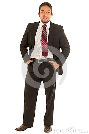 Free Latin Guy In A Suit With Red Tie Royalty Free Stock Photo - 57078305