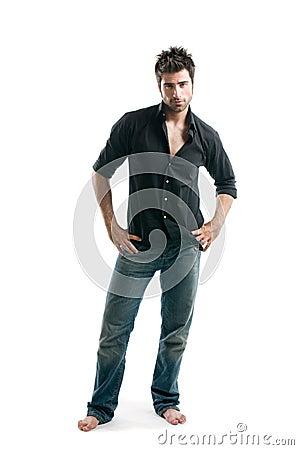 Latin man full length