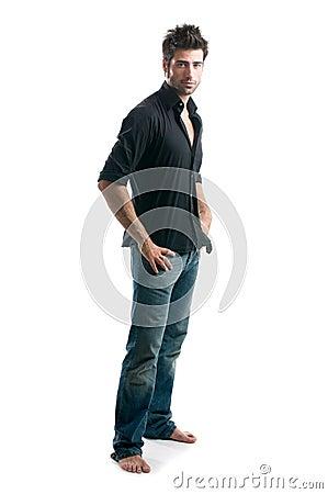 Free Latin Man Full Length Royalty Free Stock Image - 10598506