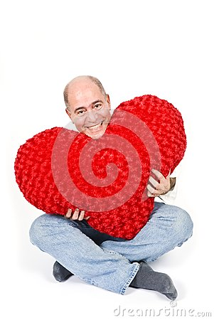 Latin Man with a Red Heart