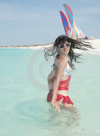 Latin Teenager in the Beach