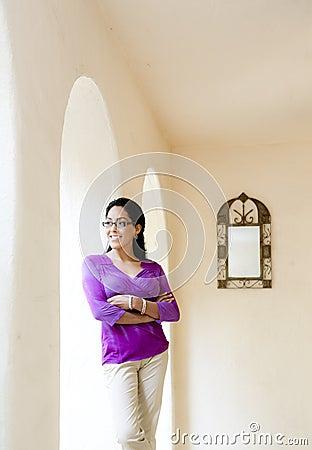 Latin Woman with Mirror