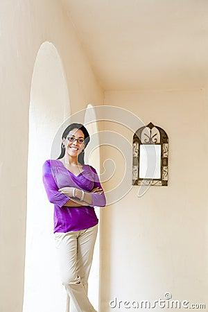 Latin Woman in Purple