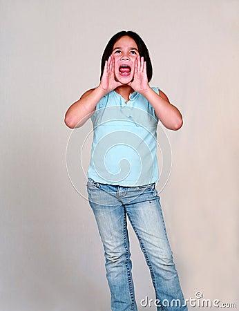 Latina Child Yelling