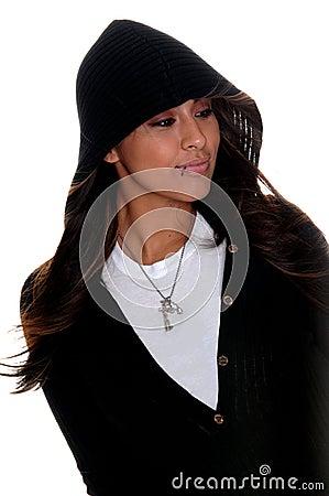 Free Latina In Hoodie Stock Image - 3366721