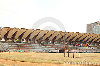 Latinamerican Stadium in Havana Editorial Stock Photo