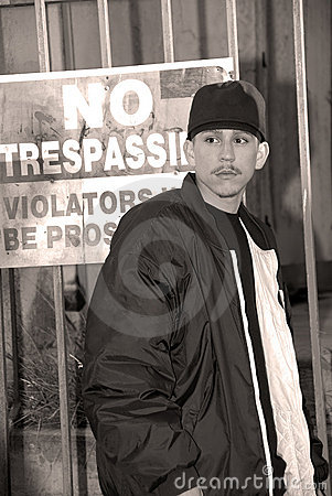 Latino Boy, No Trespassing