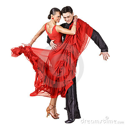 Free Latino Dancers In Action Royalty Free Stock Photo - 22096055