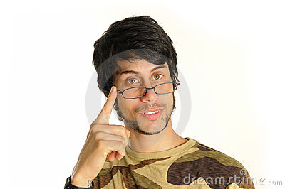Latino man with eyeglasses