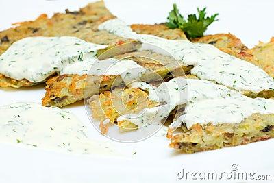 Latkes de la patata para Hanukkah