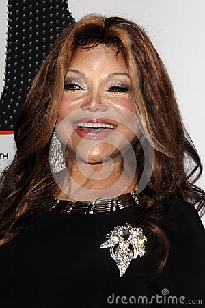 LaToya Jackson arrives at the 19th Annual Race to Erase MS gala Editorial Stock Image