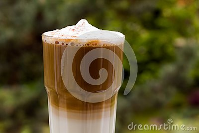 Latte Macchiato with frothy milk