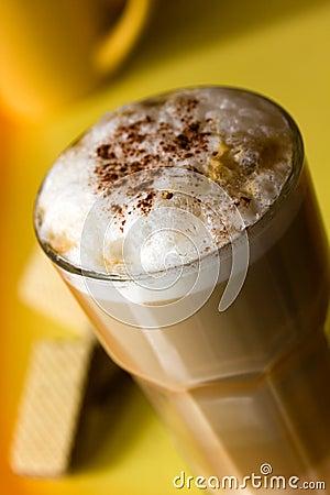 Latte Macchiato with frothy milk