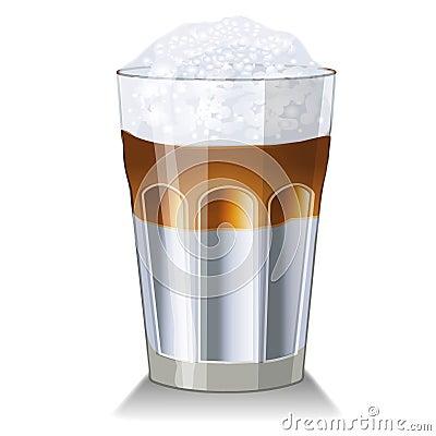 latte macchiato glass royalty free stock images image. Black Bedroom Furniture Sets. Home Design Ideas