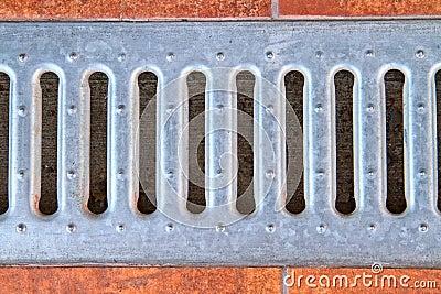 Lattice of the storm water drain