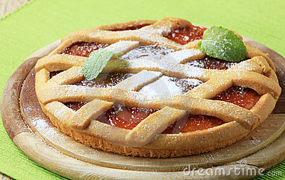 Lattice topped jelly tart