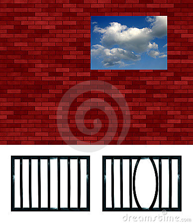 Latticed prison window pattern