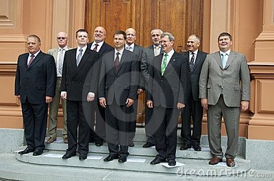 Latvian Prime Ministers Editorial Photo